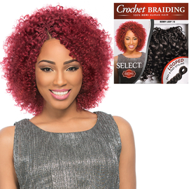 Sensationnel Remy Human Hair Crochet Braids Select Berry Loop 2pcs