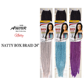 Amour Synthetic Hair Crochet Braids Natty Box Braid 24 Ombre Two Tone Color