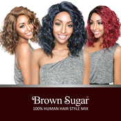ISIS Human Hair Blend Wig Brown Sugar BS129