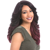Sensationnel Synthetic Lace Front Wig Empress Edge Natural Curved Part Edina