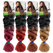 Sensationnel Synthetic Hair Braids XPRESSION Kanekalon Braid Two Tone Color