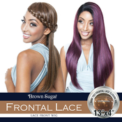 ISIS Human Hair Blend Lace Front Wig Brown Sugar 13X4 Frontal Lace BSF11