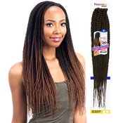 FreeTress Synthetic Hair Crochet Braids 2X PreFeathered Box Braid 20