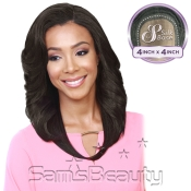 Bobbi Boss Synthetic Lace Front Wig MLF140 4X4 Silk Base Neptune