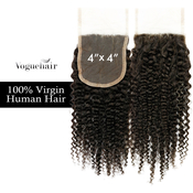 Vogue Hair 100  Virgin Human Hair HandTied 4X4 Lace Closure Bohemian Jerry