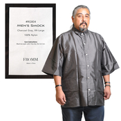 FROMM Salon Mens Smock Charcoal Gray 100 Nylon