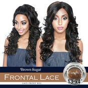ISIS Human Hair Blend Lace Front Wig Brown Sugar 13X4 Frontal Lace BSF04
