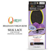 ORemi Unprocessed Brazilian Virgin Remy Human Hair Weave 12X4 Silk Base Lace Frontal Ear To Ear Closure Straight 12