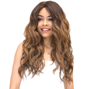 Janet Collection Synthetic Lace Front Wig Natural Super Flow Invisible Deep Part Lace Moon