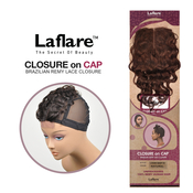 LaFlare Unprocessed Brazilian Virgin Remy Human Hair Weave Lace Part Closure On Cap Loose Deep