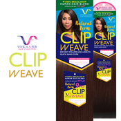 Vivica Fox Brazilian Human Hair Blend Clip On Weave Natural Perm 9pcs