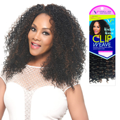 Vivica Fox Brazilian Human Hair Blend Clip On Weave Water Wave 9pcs