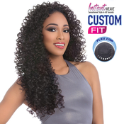 Sensationnel Synthetic Hair Half Wig Instant Weave Custom Fit Amber