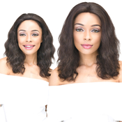 Janet Collection Natural Virgin Remy Human Hair Lace Front Wig 360 Lace Natural Wig 18