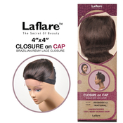 LaFlare Unprocessed Brazilian Virgin Remy Human Hair Weave 4X4 Lace Closure On Cap Body 12
