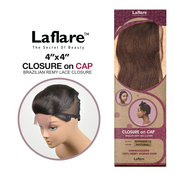 LaFlare Unprocessed Brazilian Virgin Remy Human Hair Weave 4X4 Lace Closure On Cap Straight 12