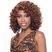 Harlem125 Synthetic Hair Lace Front Wig Kima Deep Part Ripple Deep S KLW03
