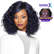 Outre Synthetic Hair Lace Front Wig 4x4 Lace Swiss X Liana