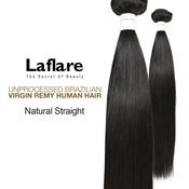 LaFlare Unprocessed Brazilian Virgin Remy Human Hair Weave Natural Straight