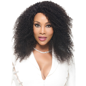 Vivica Fox Natural Brazilian Virgin Remi Human Hair Lace Front Wig Swiss Lace Invisible Lace Part Funky