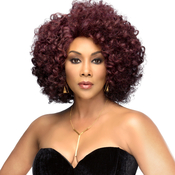 Vivica Fox Synthetic Hair Lace Front Wig Swiss Lace Invisible Lace Part Roots