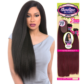 Sensationnel Human Hair Blend Weave Premium Too 3 Multi Bundles Boutique Kinky Straight 182022  4 Deep Lace Parting