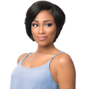 Sensationnel Synthetic Lace Front Wig Empress Edge Natural Curved Part Becky