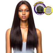 Outre Synthetic Hair Lace Front Wig Brazilian Boutique 4 Deep Free Part Lace Wig Volume Pressed