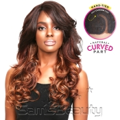 Sensationnel Synthetic Lace Front Wig Empress Edge Natural Curved Part April