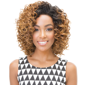 Janet Collection Synthetic Hair Half Wig New Easy Quick Nicole