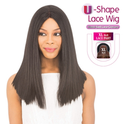New Born Free Human Hair Blend Lace Front Wig 4X4 XL Magic Lace UShape Lace Wig MLUH101