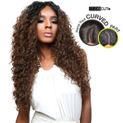 Studio Cut By Pros Synthetic Hair Wig Deep Lace Curved Part Bombshell Curl