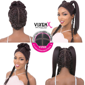 Its A Wig Human Hair Blend Lace Front Wig Vixen X yaki Straight