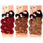 LaFlare Unprocessed Peruvian Virgin Human Hair Weave Body Wave Special 2 Tone Colors