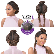 Its A Wig Human Hair Blend Lace Front Wig Vixen Y Yaki Straight