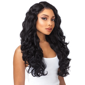 Sensationnel Synthetic Lace Front Wig Empress Edge Boutique Bundles 6 Deep Part Body Wave
