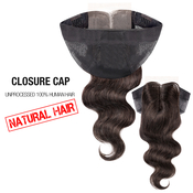 Unprocessed 100 Human Hair Weave Closure Cap Body Wave 12 225X425
