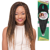 Janet Collection Synthetic Hair Braids PreStretched and Feathered EZ Wear Perm Yaky Braid 30