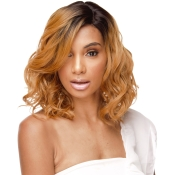 The Wig Brazilian Human Hair Blend Invisible Deep Part Lace Front Wig LHKiss