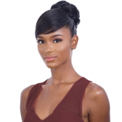 Freetress Equal Synthetic Hair Bun And Bang Fancy Bun Bang 2Pcs Swoop Side bang