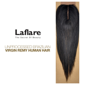 LaFlare Unprocessed Brazilian Virgin Remy Human Hair Weave Straight Lace Closure