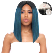 Harlem125 Synthetic Hair Lace Front Wig Swiss Lace Curved Part LSD08