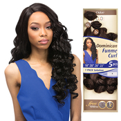 OUTRE Synthetic Hair Weave Batik Duo Dominican Funme Curl 5PCS