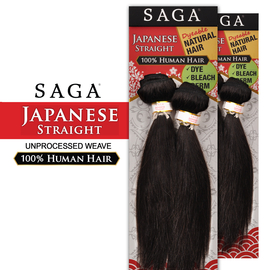 Saga Unprocessed Human Hair Weave Anese Straight 2 Pcs 10s