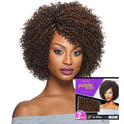 Outre Human Hair Blend Weave Premium Purple Pack Big Beautiful Hair 4AKinky 3Pcs