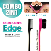 DoubleSided Edge Brush AMP; Comb Combo 2 in 1