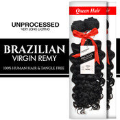 Queen Hair Unprocessed Brazilian Virgin Remy Human Hair Weave Bohemian