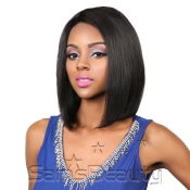 Queen Hair Unprocessed Brazilian Virgin Remy Human Hair Full Lace Front Wig L Part Straight 12