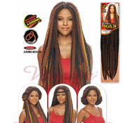 Vanessa Synthetic Hair Crochet Braids Havana 3S Jumbo Box Braid 24
