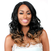 The Wig Brazilian Human Hair Blend Invisible Deep Part Lace Front Wig LHYura